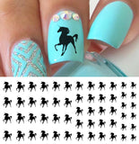 Black Unicorns Nail Art Decals