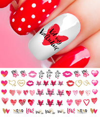 Valentine's Day Nail Decals Assortment #3