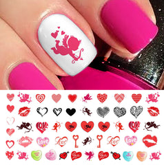 Valentine's Day Nail Decals Assortment #2