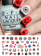 "Las Vegas Casino Nail Art Decals -5 1/2"" x 3"" sheet"
