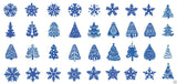 Blue Christmas Nail Art Decals Set #3