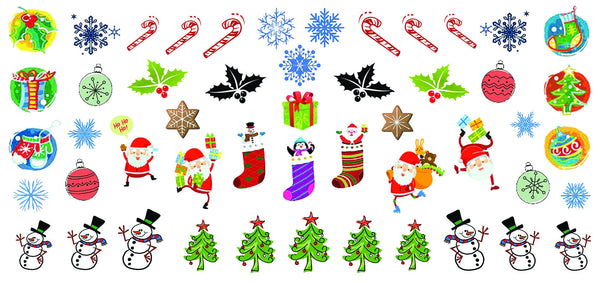 Christmas Nail Decals  Set #6