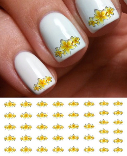 Yellow Lilies Nail Decals
