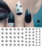Zebra Star Nail Art Decals