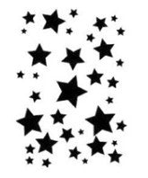 Black Stars waterslide nail decal