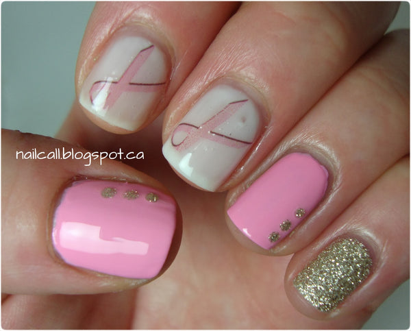 Breast Cancer Awareness Waterslide Nail Decals (Photo by Nail Call)