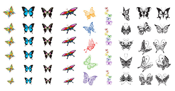 Butterfly Nail Decal Assortment