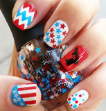 Handgun Nail Art Decals Set #2