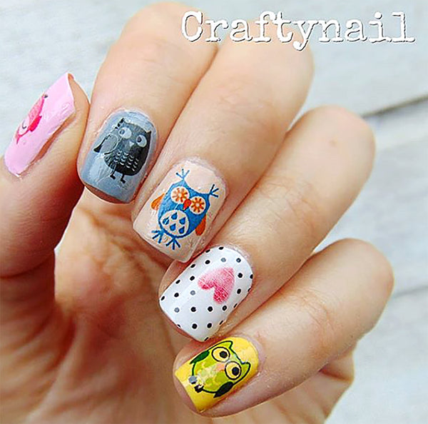 Owl Assortment Nail Art Decals Set #1