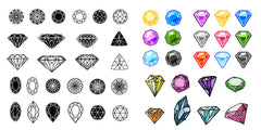 Diamond Nail Decal Assortment