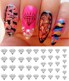 Black Diamond Nail Art Decals