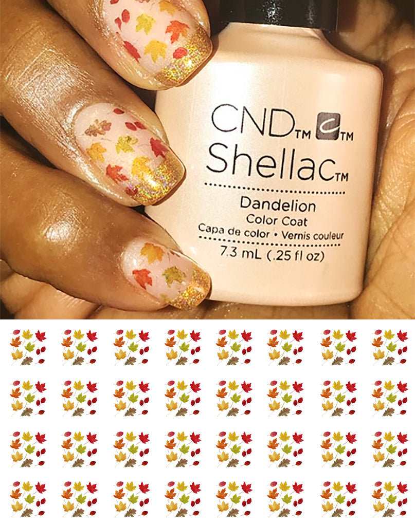 Autumn Leaves Nail Art Decals – Moon Sugar Decals