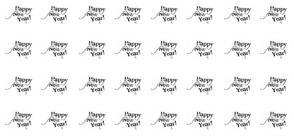 Happy New Year waterslide decals