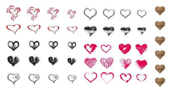 Heart Nail Decal Assortment