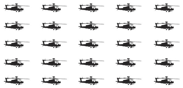 Helicopter waterslide nail decals