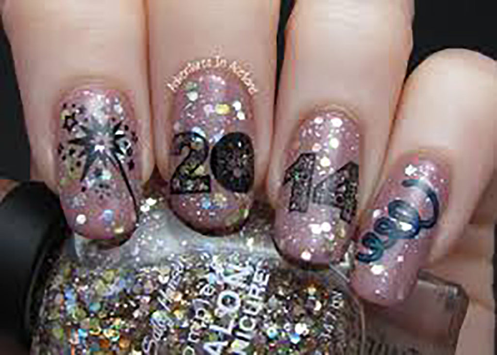 2018 New Year\'s Eve Nail Art Decals – Moon Sugar Decals