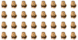Lion waterslide nail decals
