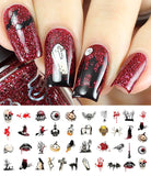 Halloween Nail Art Decals Set #4