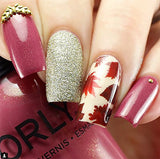 Autumn Fall Leaves Nail Art Decals Set #2