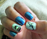 Great White Shark Set #1 - WaterSlide Nail Art Decals