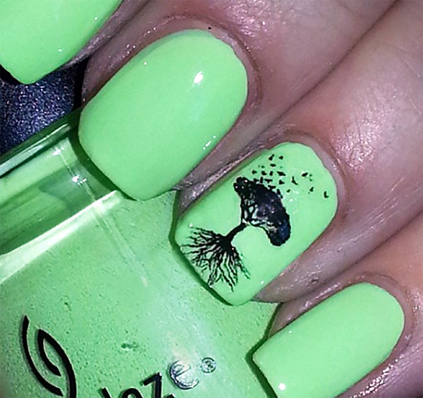 Tree Roots Nail Art Decals