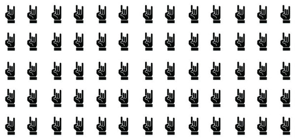 Rock On Hand Sign waterslide nail decals