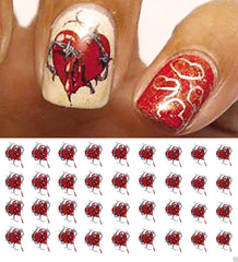 Heart & Barbed Wire Nail Decals