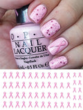 Breast Cancer Awareness Ribbons Nail Art Decals