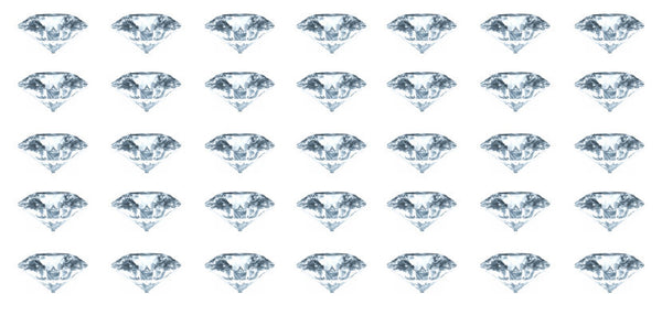 6 Carat Diamond Waterslide Nail Decals