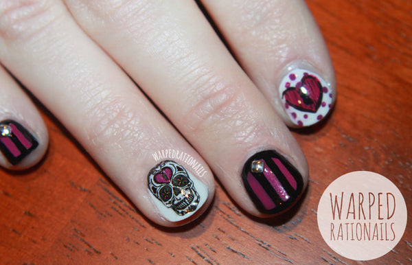 Sugar Skull Nail Decal (Warped Ratio Nails)