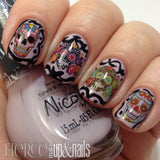 Sugar Skull Nail Decals (Fierce Makeup and Nails)