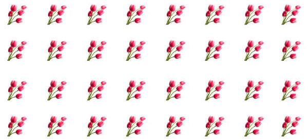 Tulips waterslide nail decals