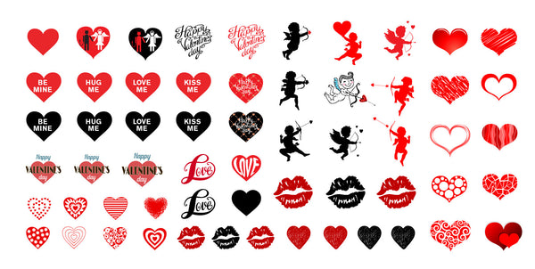 Valentine's Day Nail Decal Assortment