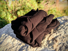 Load image into Gallery viewer, Fixed Flat Heavy Wetter-Black Bamboo Merino Wool French Terry