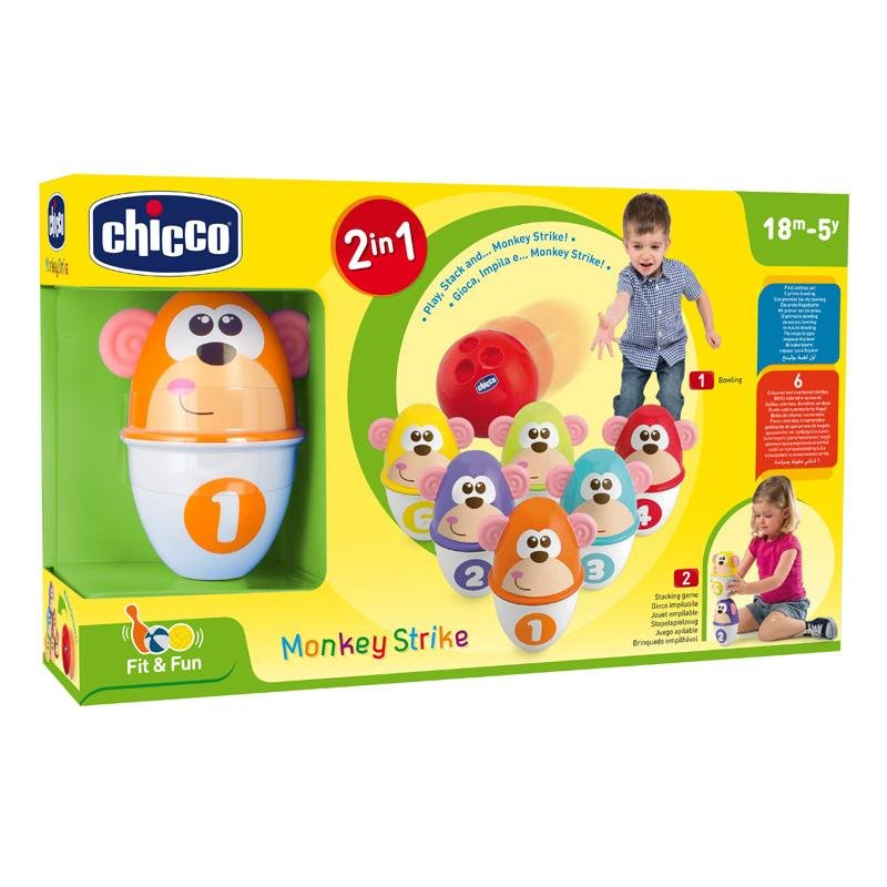Chicco Fit & Fun Monkey Strike - White with additional primary colours - Babanino