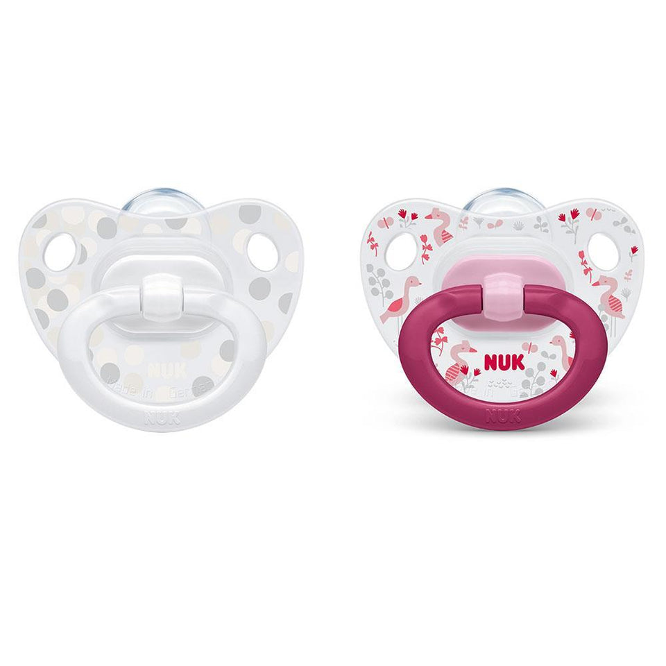 NUK HAPPY DAYS SOOTHER WITH BOX - -BIRD/DOTS 18-36M - Babanino