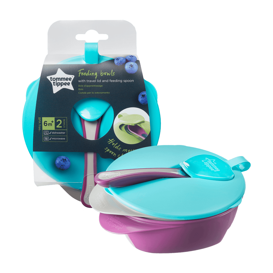 Tommee Tippee EXPLORA FEEDING BOWL WITH LID - Babanino