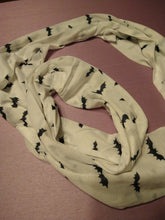 Load image into Gallery viewer, Bat print Jersey Knit Infinity Scarfs