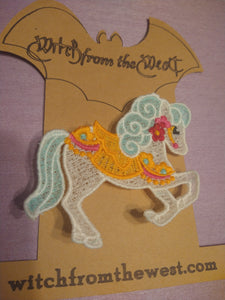 Breeze the Carnival Pony Brooch