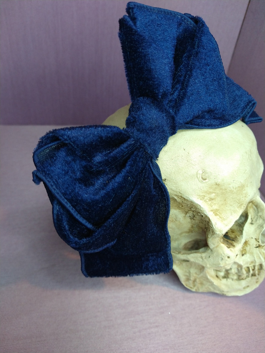 Royal Blue Velveteen Hairbow