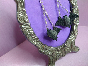 Felt Bat Embroidery Earring, Witch from the West., Save Our Bats