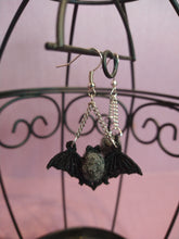 Load image into Gallery viewer, Bumblebee Bat Embroidered Earring / Save Our Bats