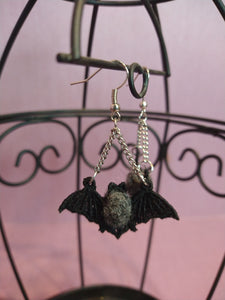 Bumblebee Bat Embroidered Earring / Save Our Bats