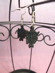 Embroidered Bat Earring / Save Our Bats