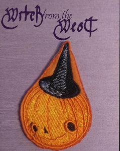 Witch from the West Embroider Pumpkin Witch Iron- Patch