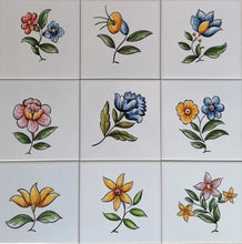 Load image into Gallery viewer, Custom Tile Mural - Flowers and Lemons | Ref. PT333 - Portuguese Tiles - The Tile Mural Store