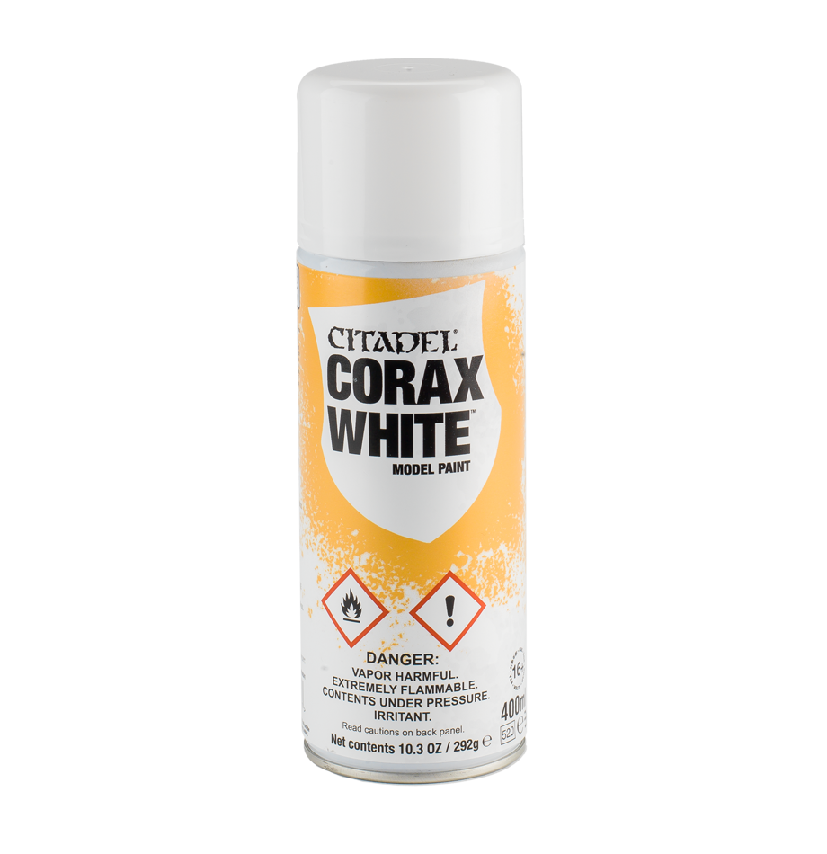 Citadel - Spray Primer - Corax White (Pickup Only) | Elandrial Games Albany