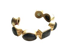 Load image into Gallery viewer, ElleGemz Labradorite Multi Stone Cuff Bracelet