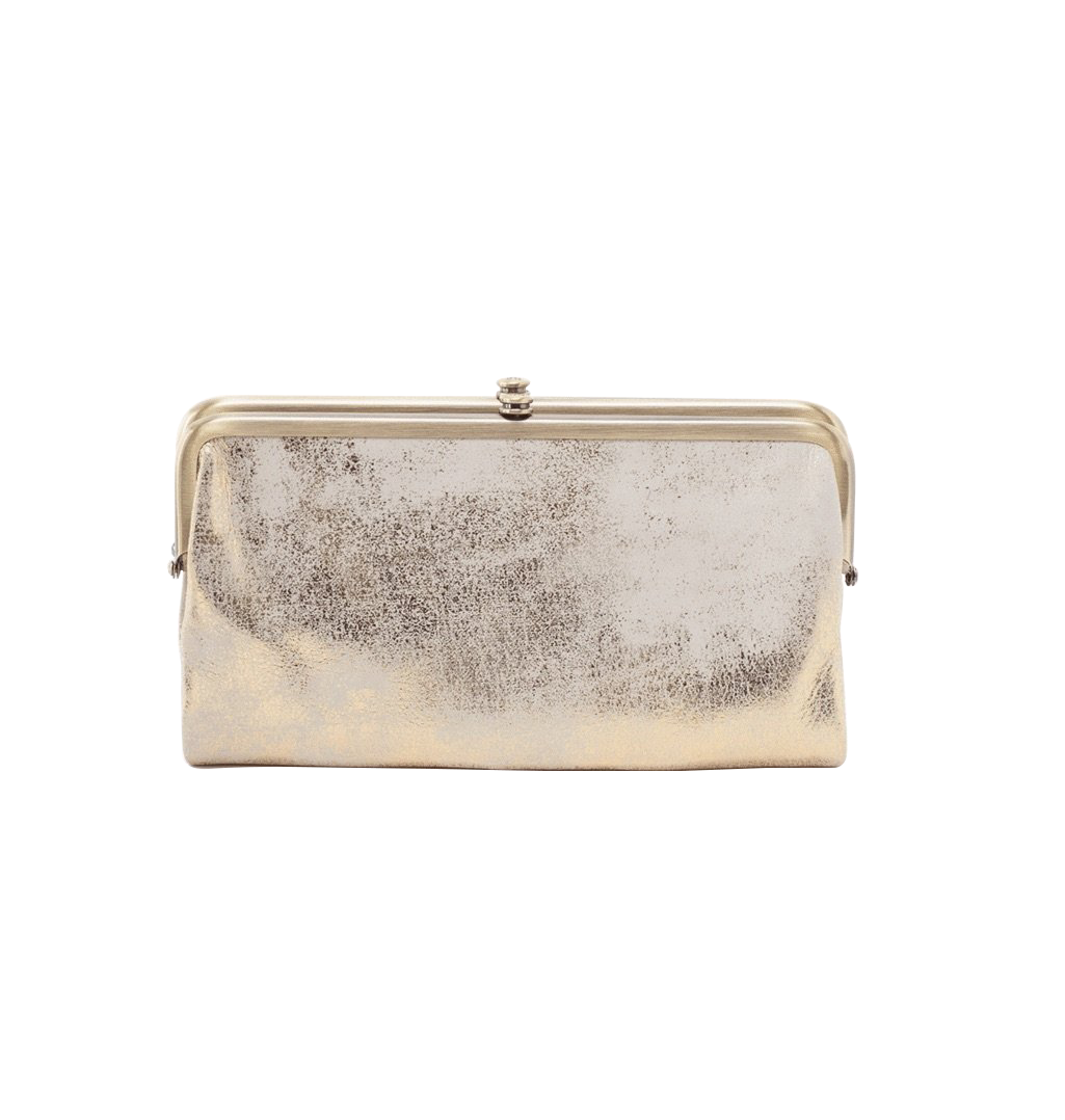 Hobo Lauren Gold Wallet