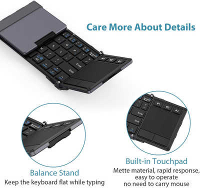 Foldable Keyboard with Touchpad-Clever Keyboard